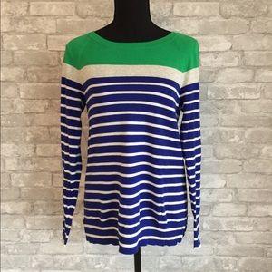 J. Crew | colorblock striped sweater